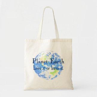 Terra do planeta - ame-a ou deixe-a bolsa para compra