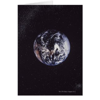 Terra do planeta cartão