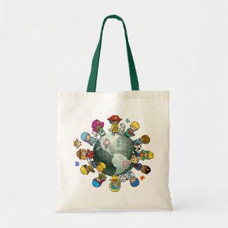 Terra do planeta do amor: Una para a paz Bolsas Para Compras