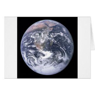 Terra do planeta - nosso mundo cartão