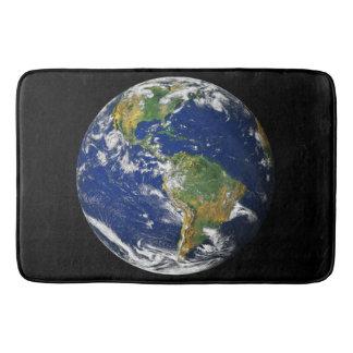 Terra do planeta tapete de banheiro