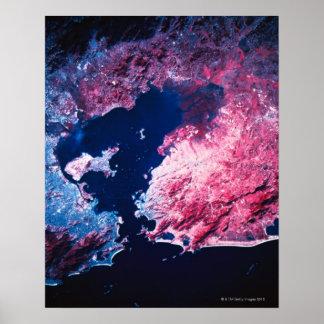 Terra do satélite poster