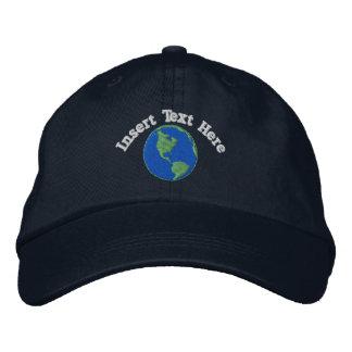 Terra feita sob encomenda chapéu bordado boné bordado