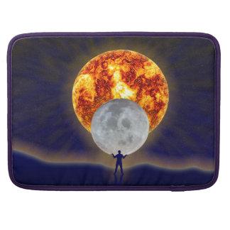 Terra Macbook da lua de Sun pro Bolsas Para MacBook