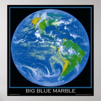 Terra - o mármore azul grande - posters do espaço pôster