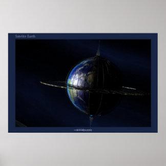 Terra satélite poster