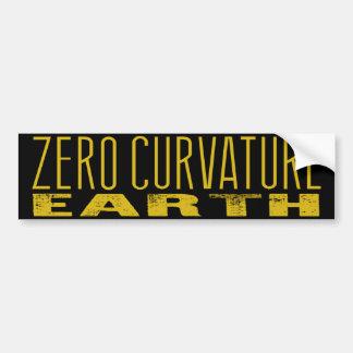 Terra zero da curvatura (terra lisa) adesivo para carro