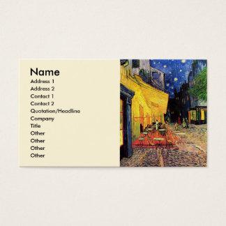 Terraço do café de Van Gogh em Lugar du Fórum, Cartão De Visitas
