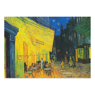 Terraço do café de Van Gogh na noite Cartão De Visita Grande