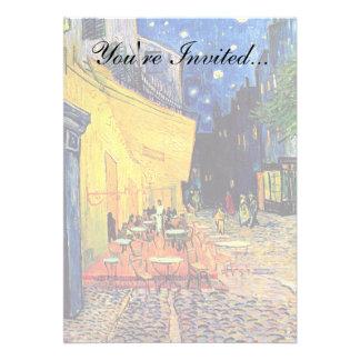 Terraço do café de Van Gogh na noite Convites