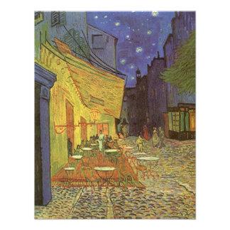 Terraço do café de Van Gogh no convite de festas d