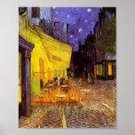 Terraço do café de Vincent van Gogh em belas artes Poster