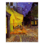 Terraço do café de Vincent van Gogh na pintura da  Impressão