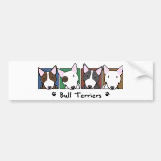 Terrier de Bull coloridos dos desenhos animados Adesivo Para Carro