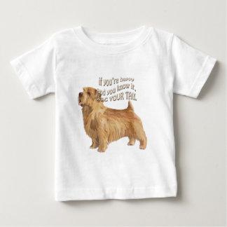 terrier de norfolk camiseta para bebê