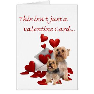 Terrier de seda seja nossos namorados cartão