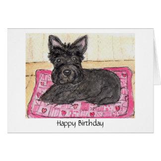 Terrier do Scottish do cartão de aniversário da