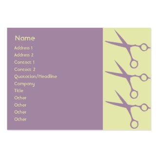 Tesouras - carnudos cartão de visita grande