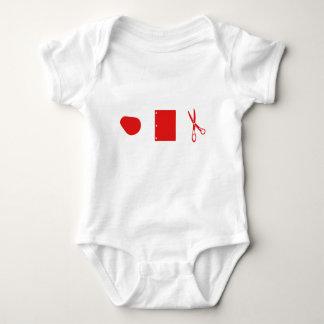 tesouras de papel da rocha para o bebê body para bebê