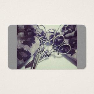 Tesouras do cabeleireiro cartão de visitas