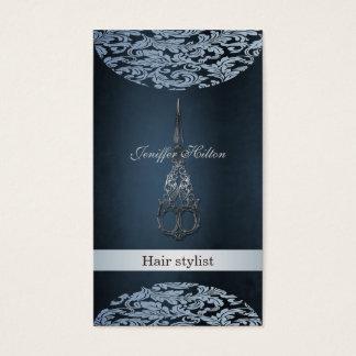 Tesouras luxuosas chiques elegantes profissionais cartão de visitas