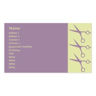 Tesouras - negócio cartão de visita