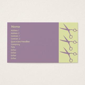 Tesouras - negócio cartão de visitas