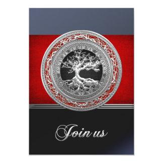 Tesouro achado: Árvore de vida celta de prata Convites Personalizado
