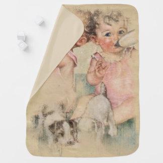 Tesouro do vintage cobertorzinhos para bebe