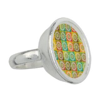 Tessellation floral anel com imagem
