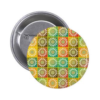 Tessellation floral bóton redondo 5.08cm