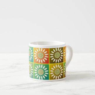 Tessellation floral caneca de café