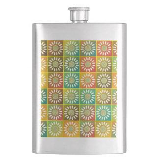 Tessellation floral cantis de bebida