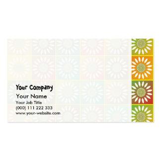 Tessellation floral cartão de visita