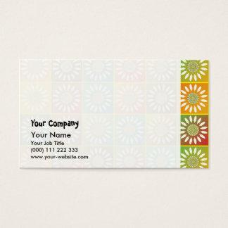 Tessellation floral cartão de visitas