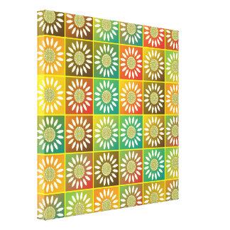 Tessellation floral impressão em tela