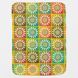 Tessellation floral mantas de bebe