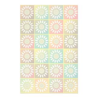 Tessellation floral papelaria