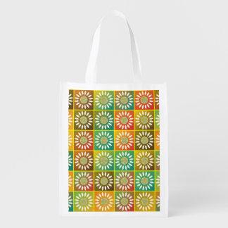 Tessellation floral sacolas ecológicas para supermercado