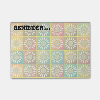 Tessellation floral sticky note