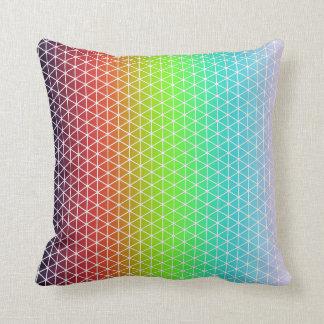 Tessellation geométrico da estrutura do arco-íris almofada