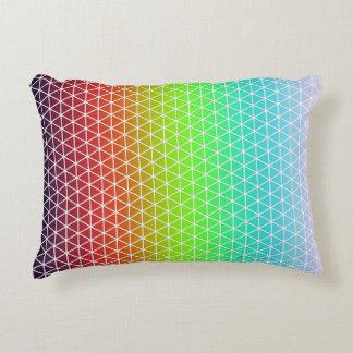 Tessellation geométrico da estrutura do arco-íris almofada decorativa
