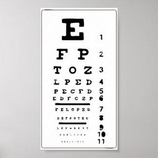 Teste da carta do poster do olho seu impressão do