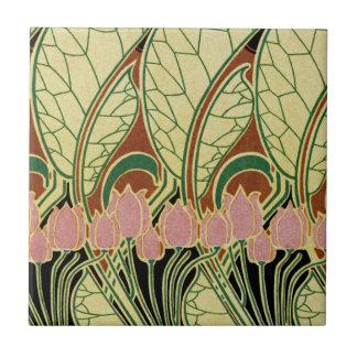 Teste padrão #1 de Nouveau da arte Azulejos De Cerâmica