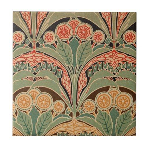 Teste padrão #3 de Nouveau da arte em Emporio Moff Azulejo De Cerâmica