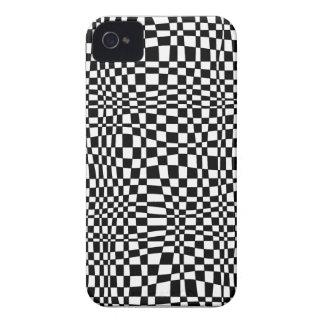 Teste padrão 3D preto e branco Capas Para iPhone 4 Case-Mate