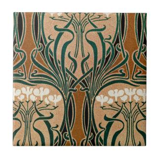 Teste padrão #9 de Nouveau da arte Azulejos De Cerâmica