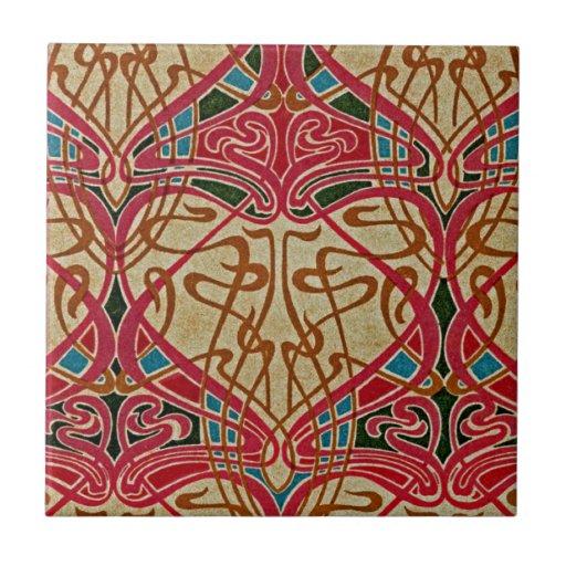 Teste padrão #9 de Nouveau da arte em Emporio Moff Azulejo