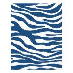 Teste padrão à moda do impressão da zebra dos azui modelo de papel de carta