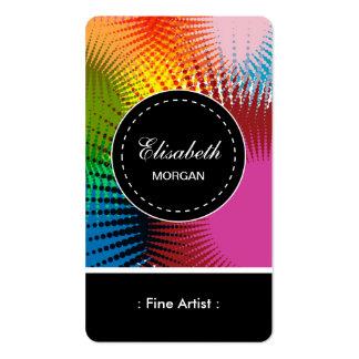 Teste padrão abstrato colorido do artista fino cartão de visita